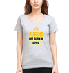 Queens Are Born In April Womens Half Sleeves T-Shirts-FunkyTradition Half Sleeves T-Shirt FunkyTradition