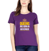 Queens Are Born In November Womens Half Sleeves T-Shirts-FunkyTradition Half Sleeves T-Shirt FunkyTradition