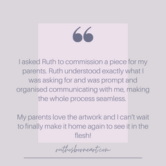 Customer feedback about the experience of commissioning an artwork