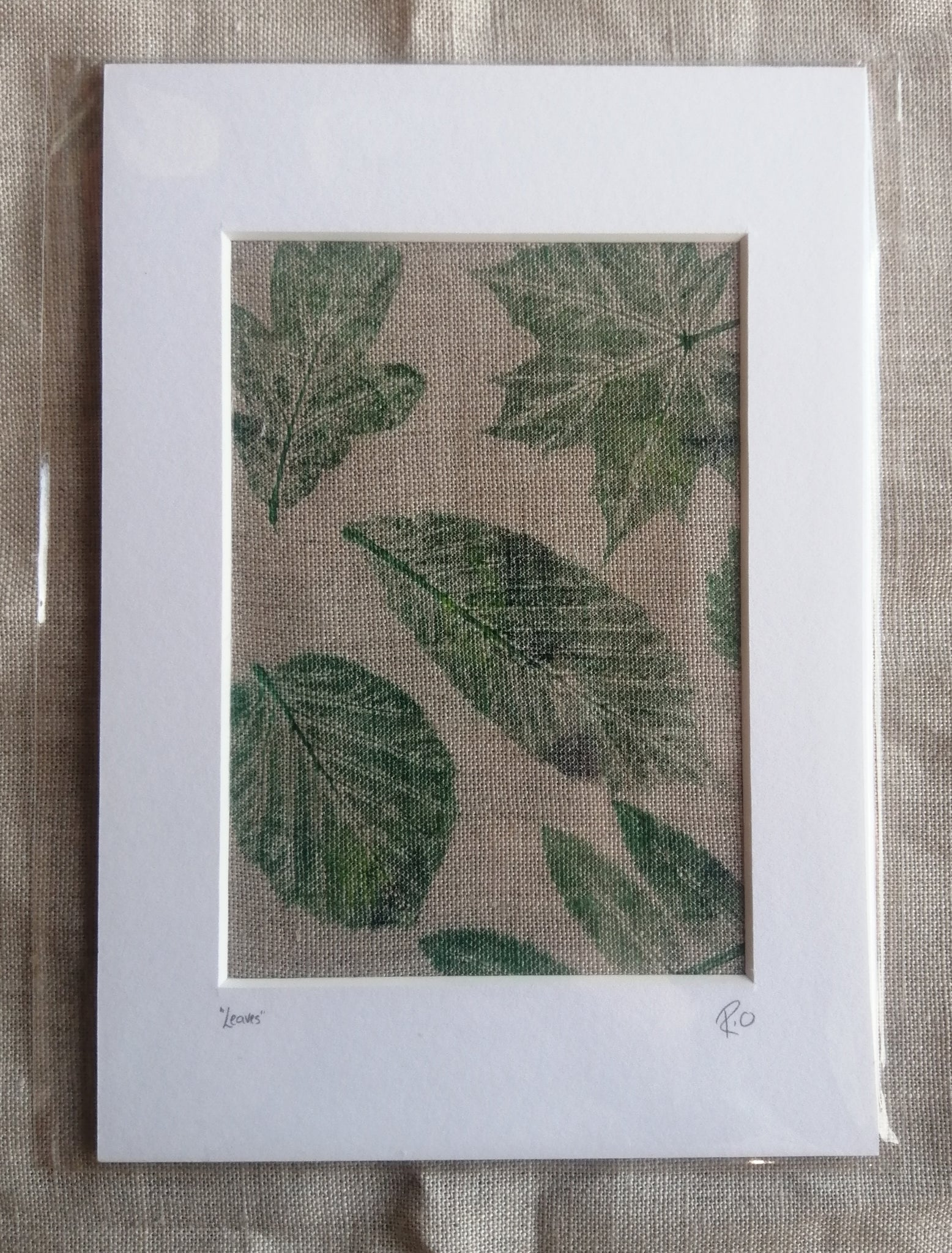 Leaves Irish Linen Original