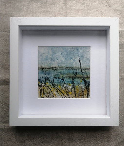 'Winter Shore in Sun' Irish Linen Original