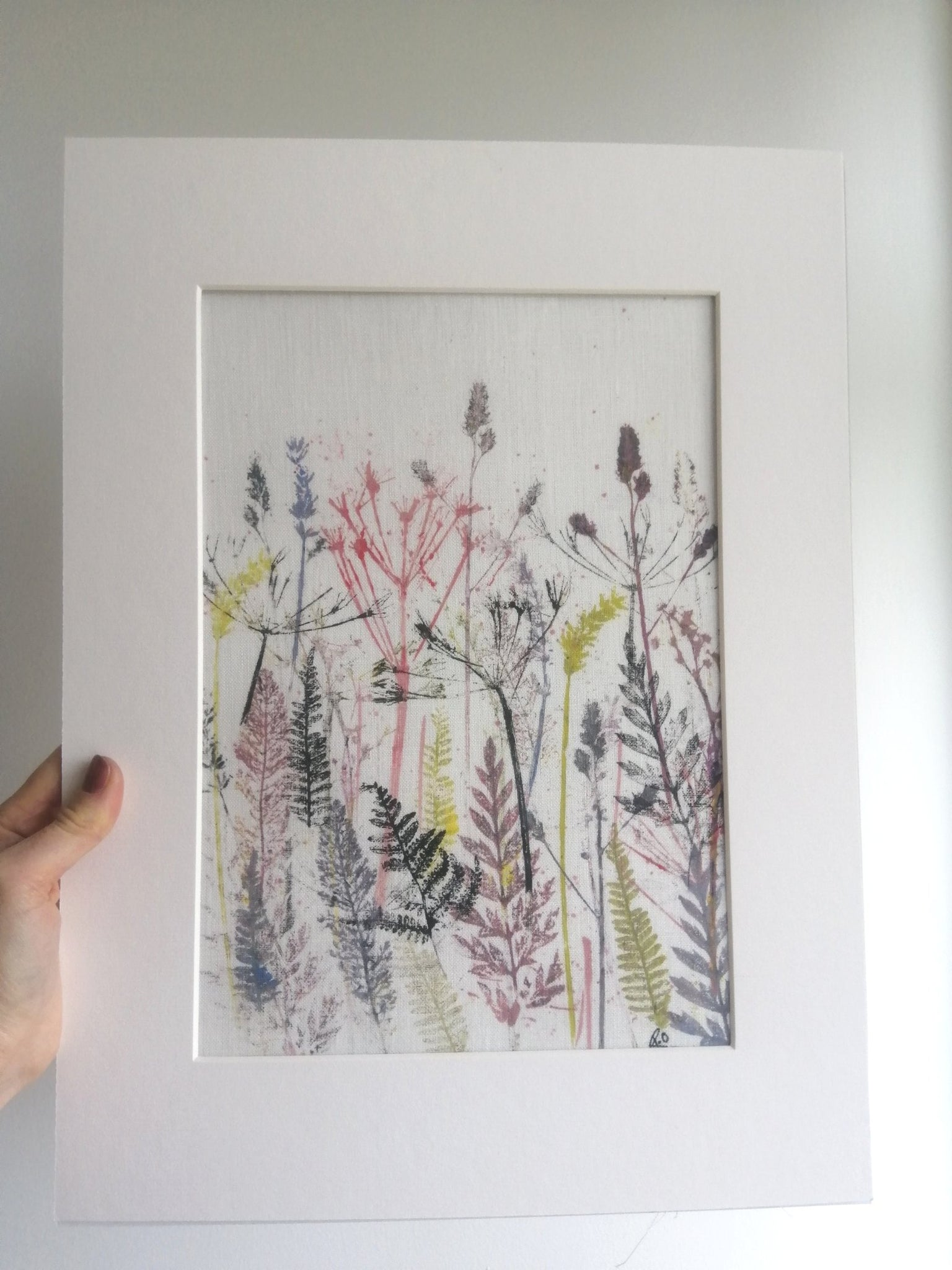Vibrant Hedgerow Irish Linen Original