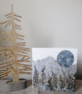 Winter Sky Art Card/Set of 5 cards