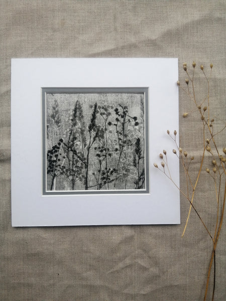 'Silent Night Stems II' Irish Linen Original