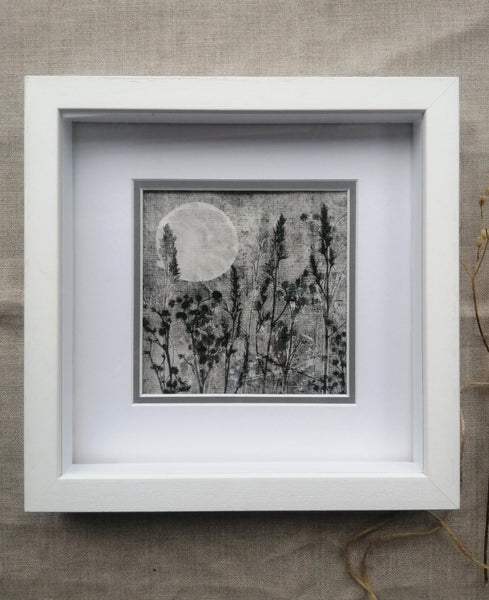 'Silent Night Moon II' Irish Linen Original