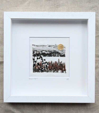 Winter Dawn, Bogland: Irish Linen Original Artwork