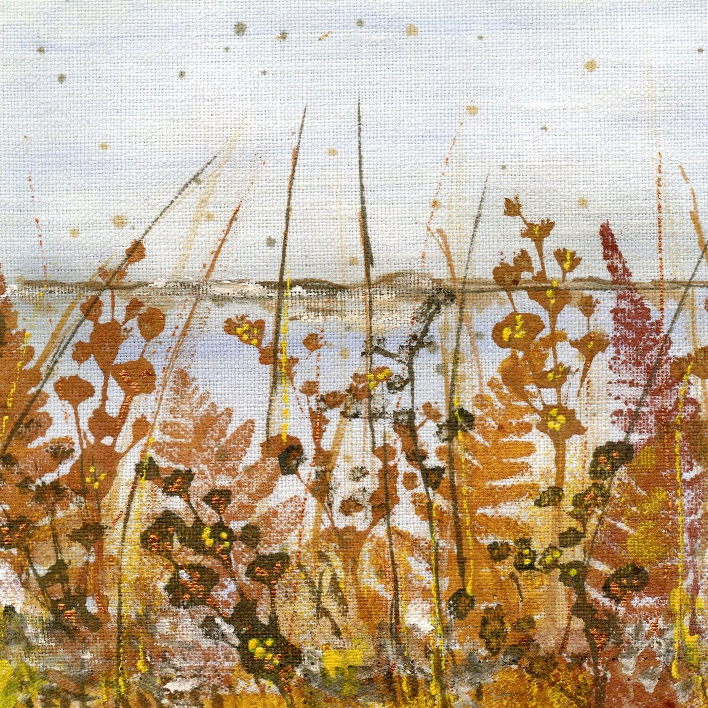 Autumn Shore Art Greetings Card