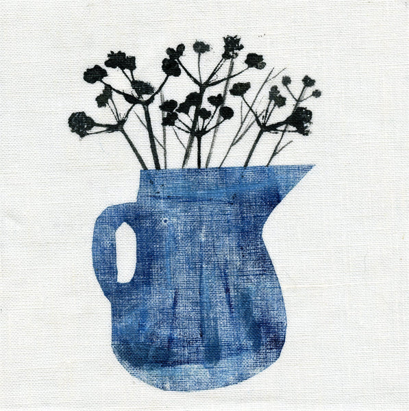 Cow Parsley Jug Art Greetings Card