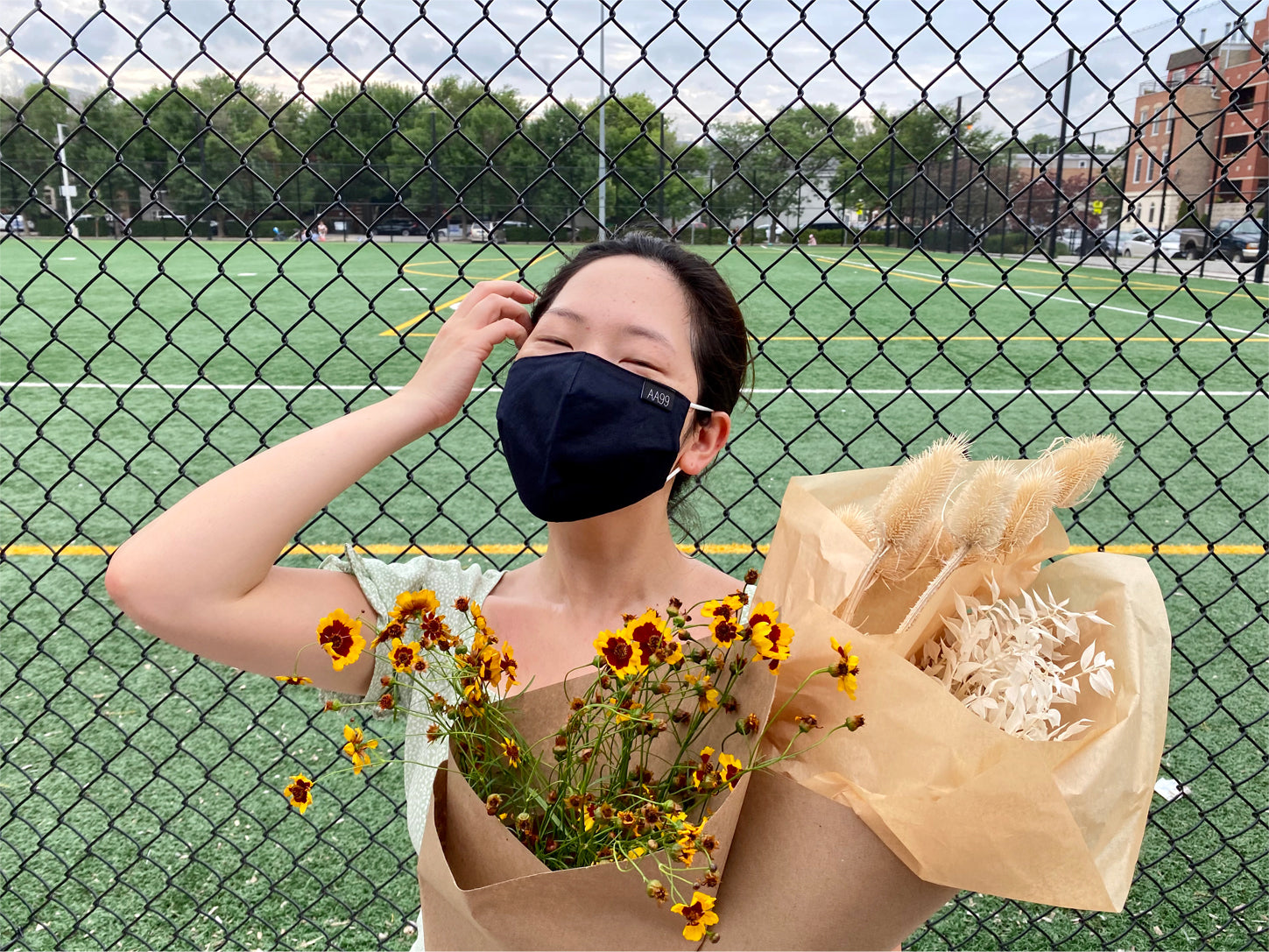 maskne caused by wearing face masks