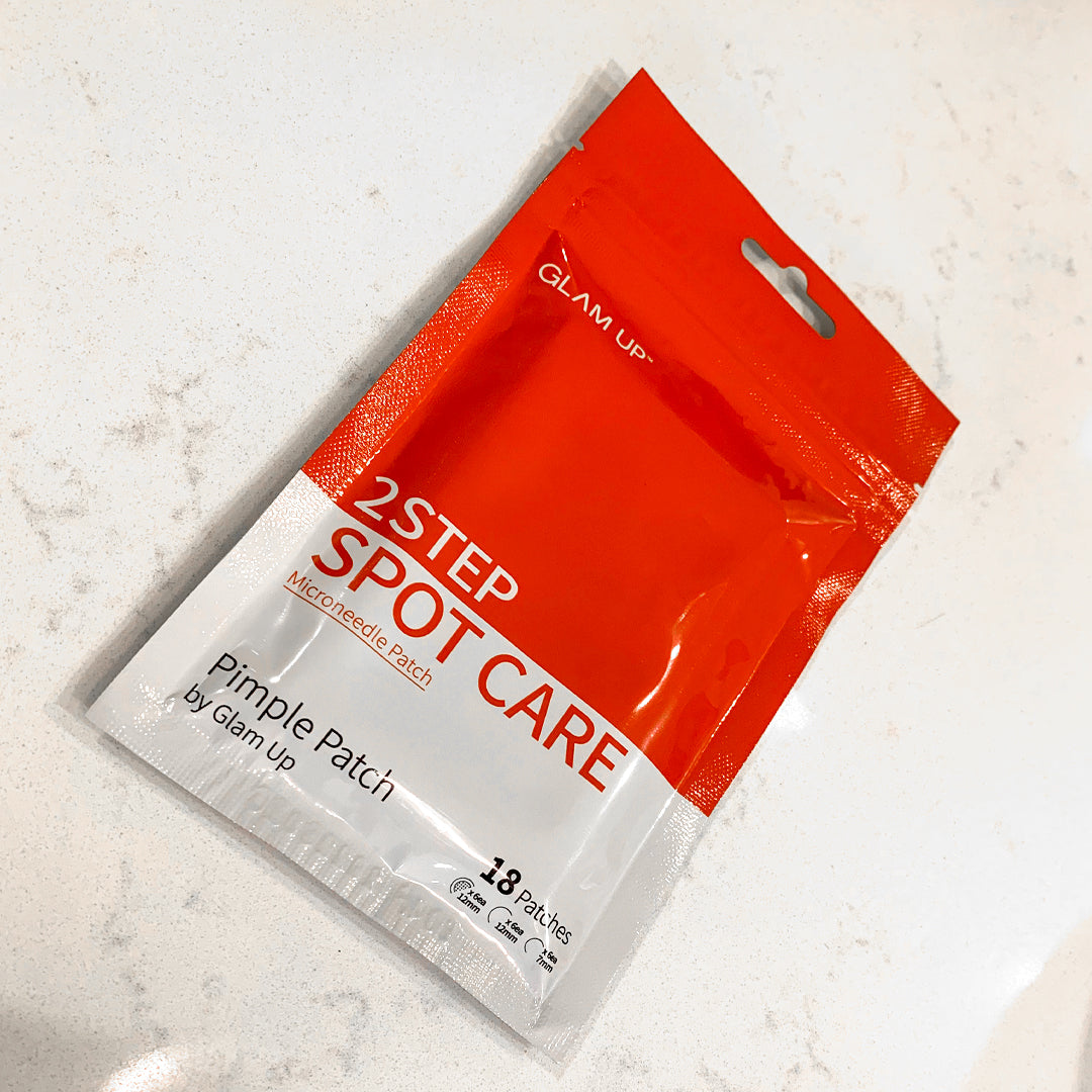2 step spot care microneedle pimple patch package