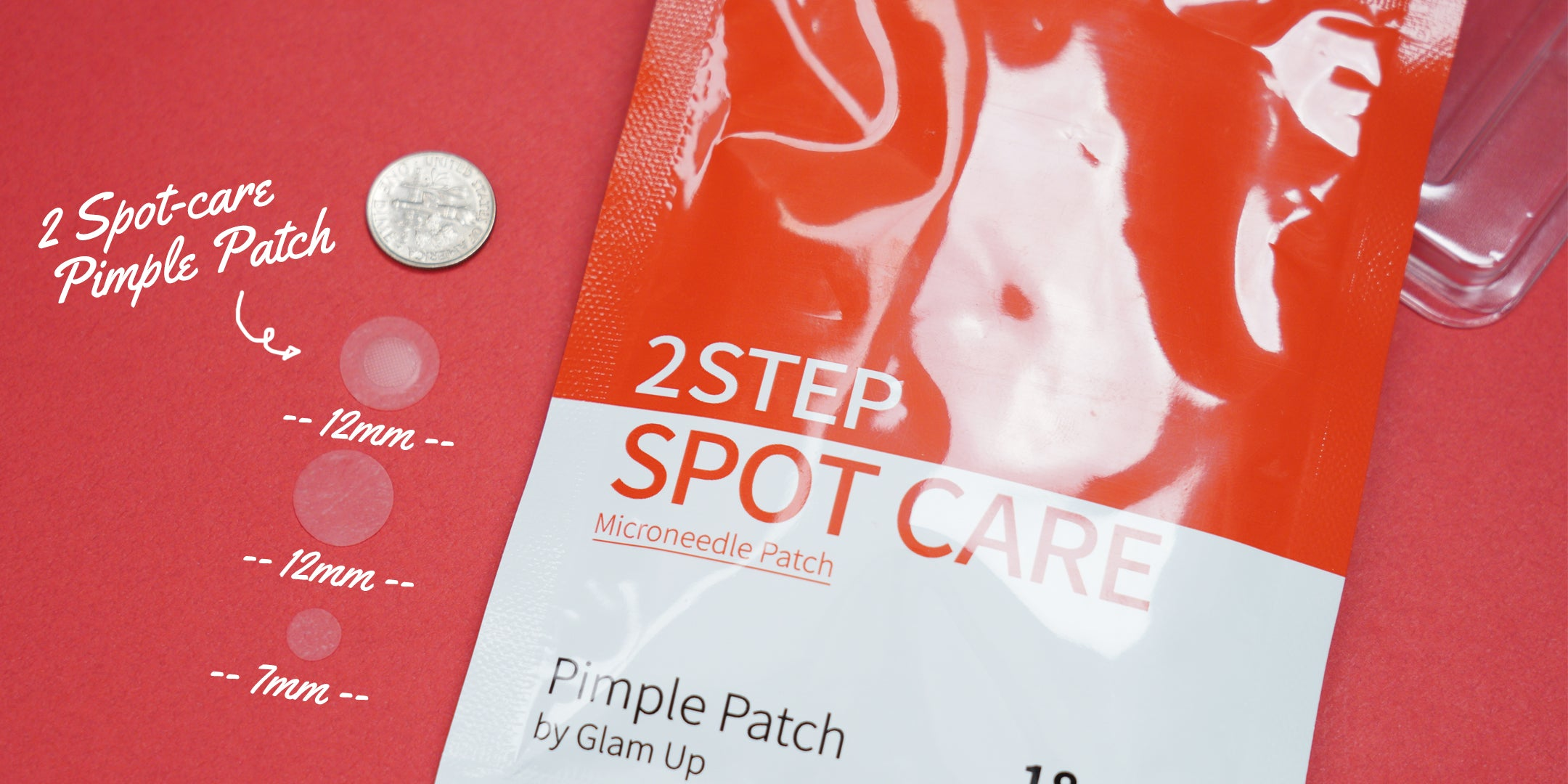 Microneedle and different sized hydrocolloid patches in one package