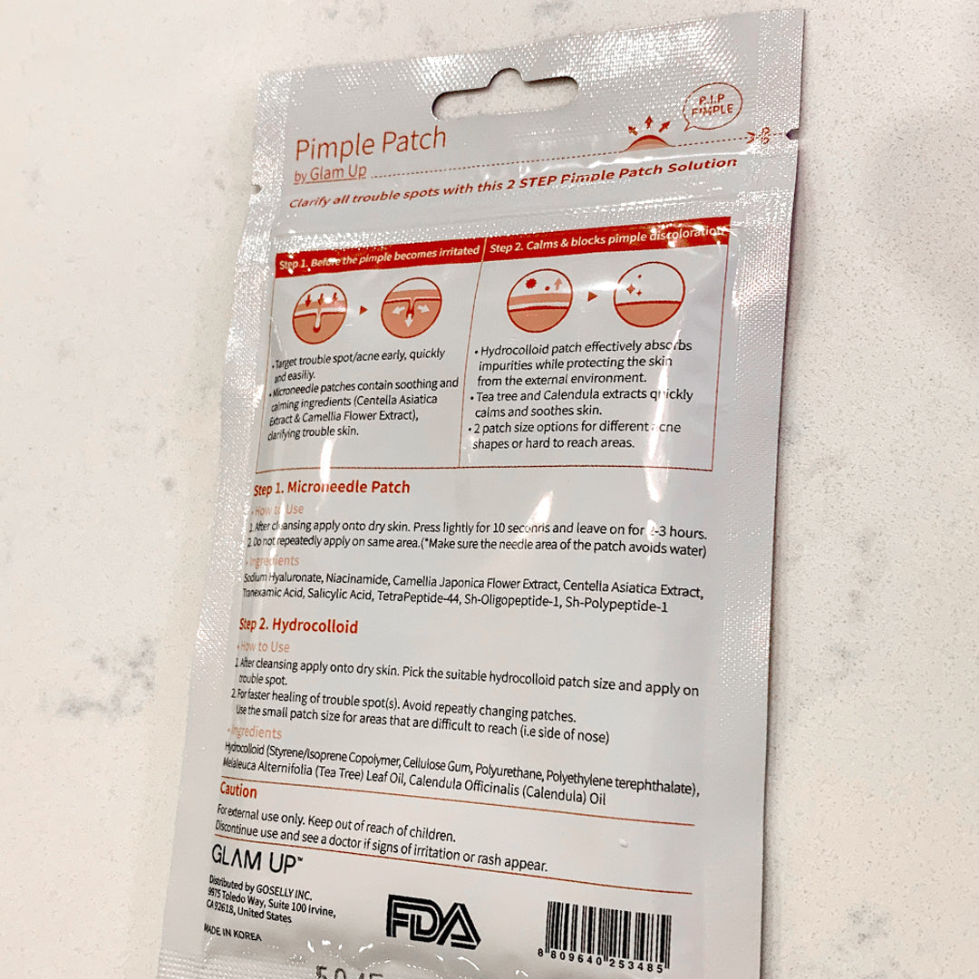 microneedle pimple patch active ingredients