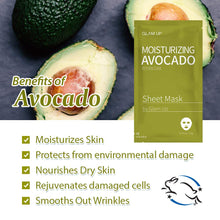 Load image into Gallery viewer, Glam up - Sheet Mask by Glam up	Moisturizing Avocado 1ea