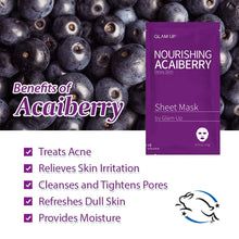 Load image into Gallery viewer, Glam up - Sheet Mask by Glam up	Nourishing Acaiberry 1ea