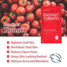 Load image into Gallery viewer, Glam up - Sheet Mask by Glam up Radiant Tomato 1ea