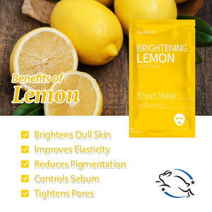 Glam up - Sheet Mask by Glam up	Brightening Lemon 10 Pack
