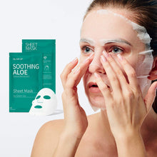 Load image into Gallery viewer, Glam up - Sheet Mask by Glam up	Soothing Aloe	10 Pack