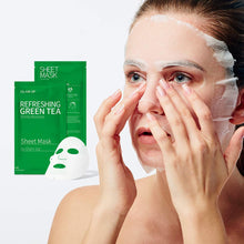Load image into Gallery viewer, Glam up - Sheet Mask by Glam up	Refreshing Green Tea 10 Pack