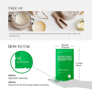 Glam up - Sheet Mask by Glam up	Refreshing Green Tea 10 Pack