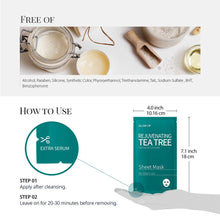 Load image into Gallery viewer, Glam up  - Sheet Mask by Glam up Rejuvenating Tea Tree 10 Pack