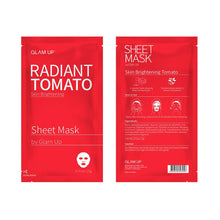 Load image into Gallery viewer, Glam up - Sheet Mask by Glam up	Radiant Tomato 10 Pack
