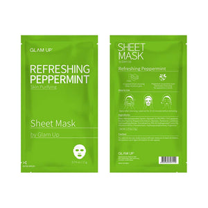 Glam up - Sheet Mask by Glam up Refreshing Peppermint 1ea