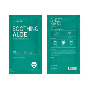 Glam up - Sheet Mask by Glam up	Soothing Aloe	10 Pack