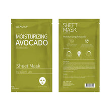 Load image into Gallery viewer, Glam up - Sheet Mask by Glam up	Moisturizing Avocado 10 Pack