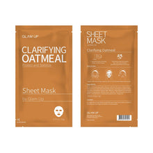 Load image into Gallery viewer, Glam up - Sheet Mask by Glam up	Clarifying Oatmeal 10 Pack