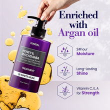 Load image into Gallery viewer, KUNDAL - Honey & Macadamia Hydro-Intensive Protein Premium Hair Treatment (AMBER VANILLA) 1 bottle