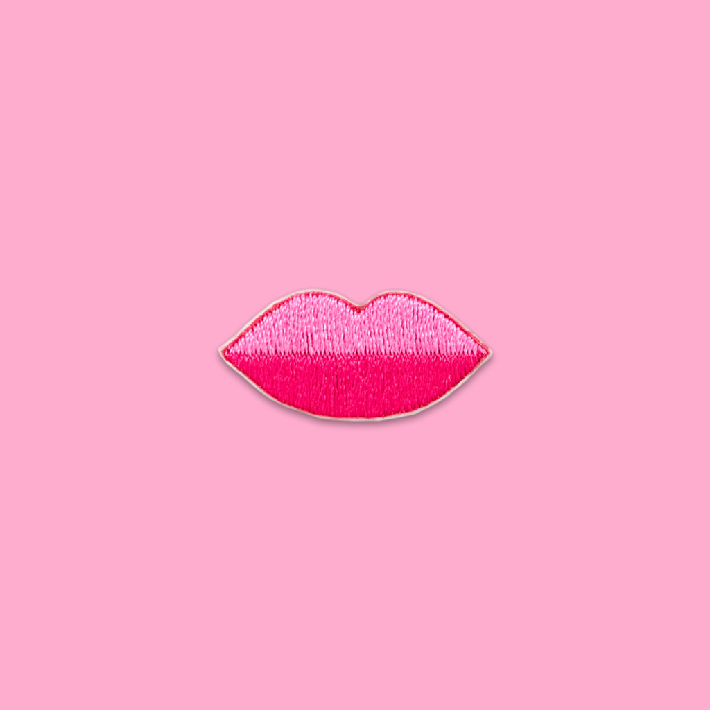 Pink Lips Sticker Patch