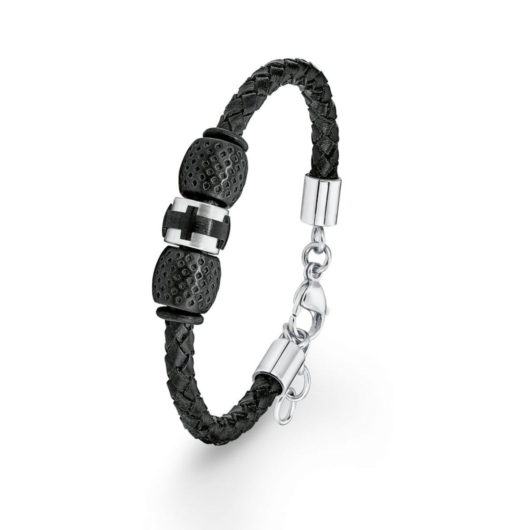 s.Oliver Jewel Herren Armband Leder SO1372/1 - 9038329