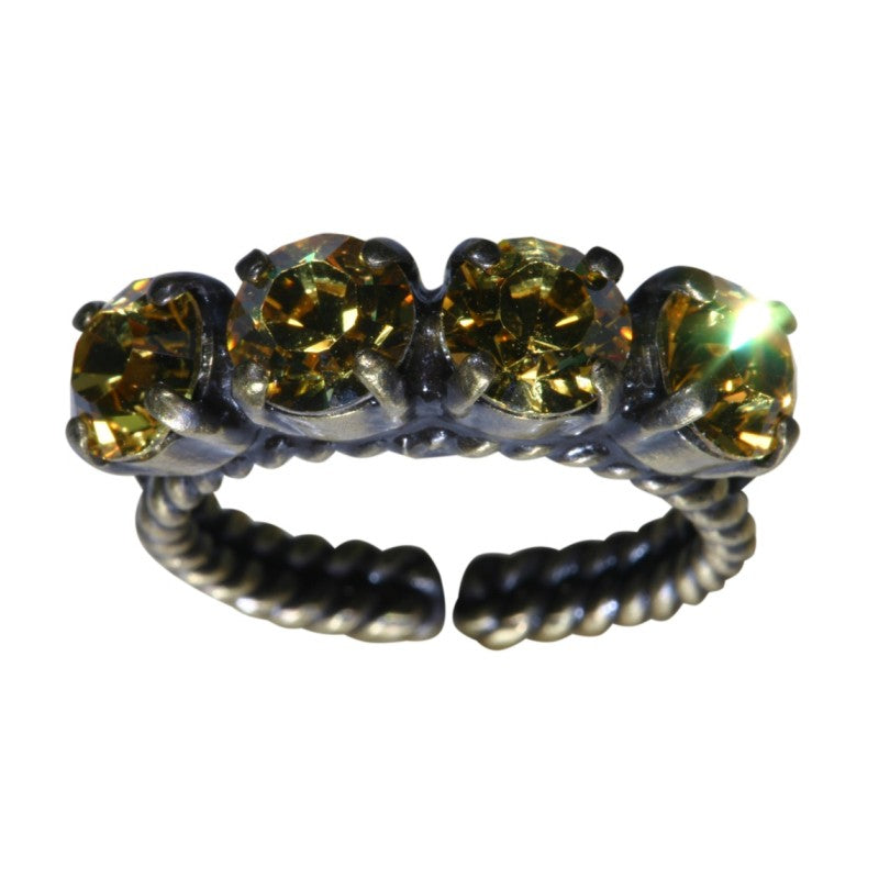 Konplott Ring Colour Snake gelb Hell-topaz SS 29