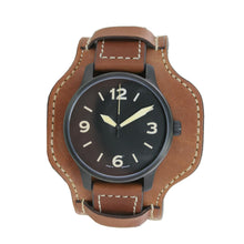 Laden Sie das Bild in den Galerie-Viewer, Aristo Herren Uhr Armbanduhr Automatic FT-Black Fliegeruhr 0H09 Leder