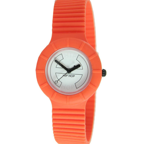 Hip Hop Uhr Armbanduhr Silikonuhr Hero 32mm orange