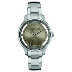 Kenneth Cole New York Damen-Armbanduhr Analog Quarz Edelstahl 10030795