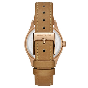 Kenneth Cole New York Damen-Armbanduhr Analog Quarz Leder 10030801