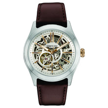 Laden Sie das Bild in den Galerie-Viewer, Kenneth Cole New York Herren-Armbanduhr Automatik Leder 10030814