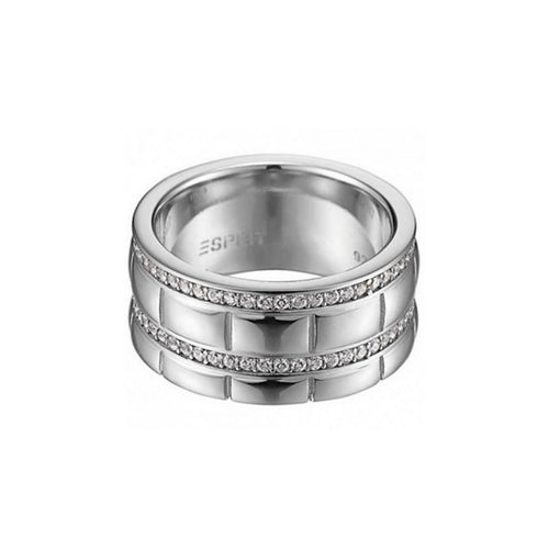 Esprit Damen Ring Silber Pure Houston Zirkonia ESRG91524A1
