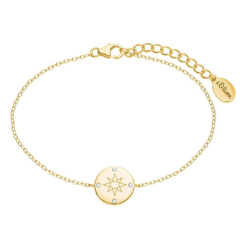 s.Oliver Jewel Damen Armband Silber SO PURE Kompass gold 2025612