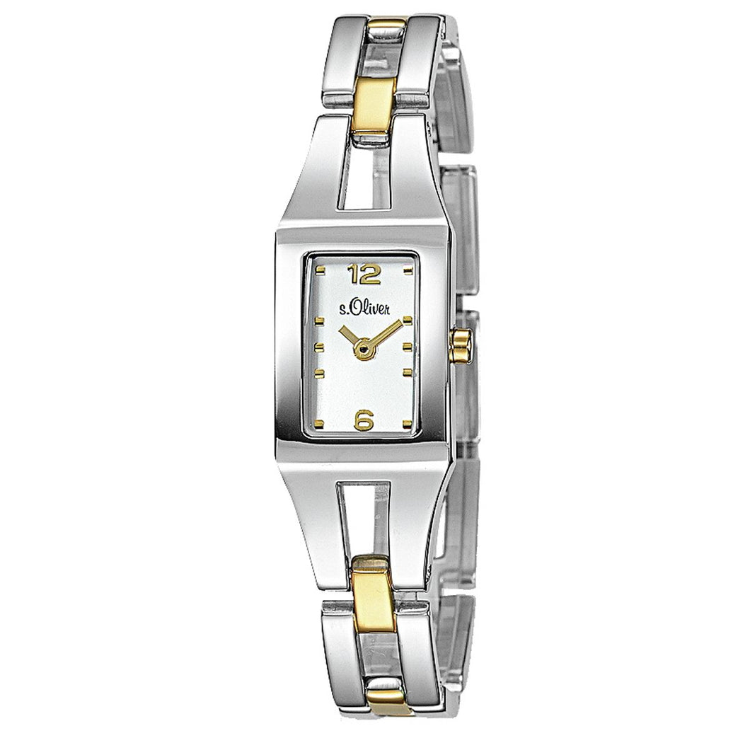 s.Oliver Damen-Armbanduhr Analog Quarz bicolor SO-15040-MQR