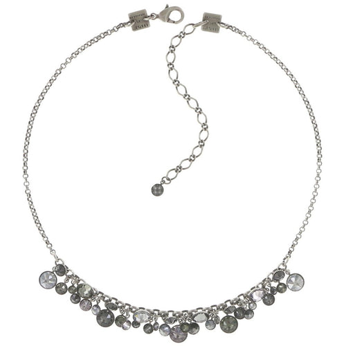 Konplott Halskette Collier Waterfalls grey antique silber