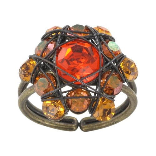 Konplott Ring Bended Lights orange / gelb