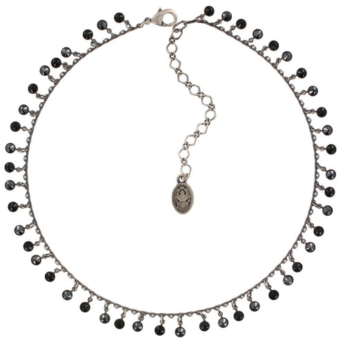 Konplott Halskette Collier Waterfalls black silber