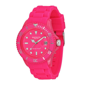 Candy Time by Madison N.Y. Uhr Unisex U4503-48-1 pink
