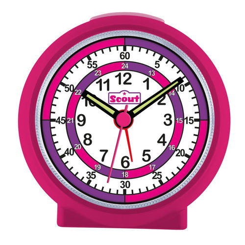 Scout Mädchen Wecker Alarm LearnTheTime pink 280001015