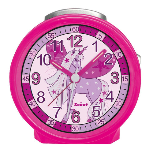 Scout Kinder Wecker Alarm Friends UNICORN STAR Pink Mädchen 280001023
