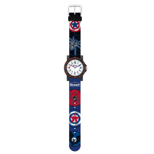 Scout Kinder Uhr Lernuhr IT-Collection - Dark Spider Jungen 280375020