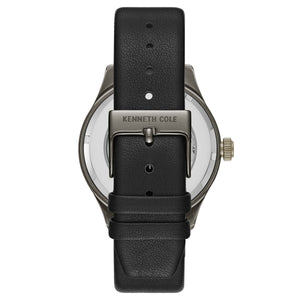 Kenneth Cole New York Herren-Armbanduhr Automatik Leder KC15171004