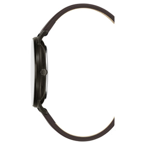Kenneth Cole New York Herren-Armbanduhr Analog Quarz Leder KC50008002